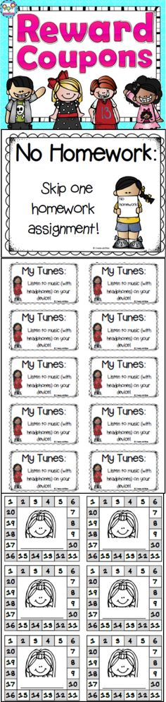 Reward Coupons for classroom management! 100 different coupons in 2 formats. Over 200 pages.   #rewardcoupons #management #incentives