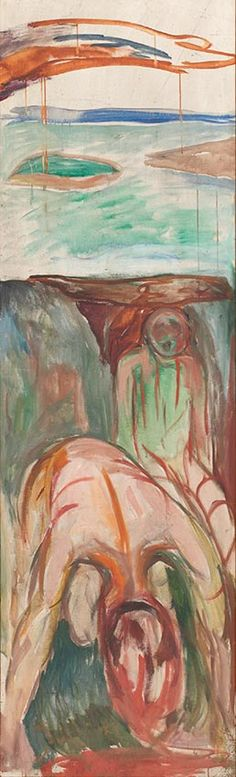 The human mountain » Munch's Ekely - The Storm: Right Middle Part - 1926–27 / Oil on canvas / 205 x 61 cm Munch Museum