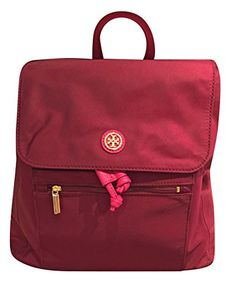 Tory Burch Nylon Flap Backpack >>> Click image to review more details. Note:It is Affiliate Link to Amazon.