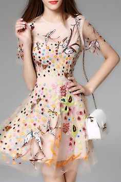 $89.99 Apricot Bird Floral Embroidery Dressproducts_id:(1000012966 or 1000012338 or 1000012650 or 1000012431)