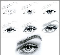 Instructions on how to draw an eye =) all respect to artist.