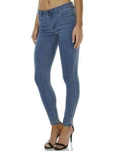 RIDERS BY LEE MID ANKLE SKIMMER WOMENS JEAN - BLUE BABE