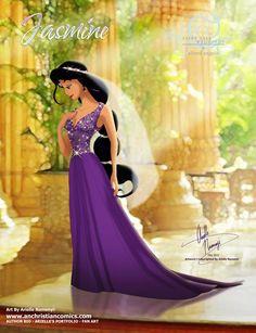 (248) Jasmine [2015] (Fairy Tale Wedding by AN-ChristianComics @deviantART) #Aladdin