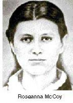 Roseanna McCoy who fell in love with Johnse Hatfield and had his child out of wedlock. History Channel, Us History, Women In History, Family History, American History, History Timeline, Johnse Hatfield, Hatfield And Mccoy Feud, World History