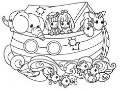 Noah Ark Coloring Pages And Bible