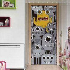 Fototapeta na dveře vyrobená ze samolepící fólie s ochrannou laminací proti poškrábání.