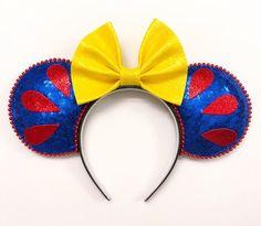 Snow White princess disney minnie Mickey Mouse Ears - New Ideas Disney Diy, Diy Disney Ears, Disney Mickey Ears, Disney Crafts, Mickey Ears Diy, Micky Ears, Anna Disney, Disney Land, Disney Ears Headband