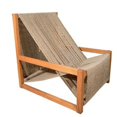 """// 1970s """"Strung Chair"""" by Daisy Schnepel"""