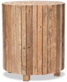 Safavieh - Richmond Rustic Wood Block Round End Table, Quick Ship Bedroom Turquoise, Laminate Colours, Block Table, Rustic Coffee Tables, Wood Rounds, Fine Furniture, Furniture Plans, Wood Blocks, Rustic Wood
