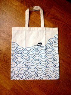 tote bag customiser id e diy d corer personnaliser sac tissu fait maison coeur graphique points. Black Bedroom Furniture Sets. Home Design Ideas