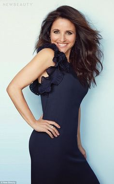 Leading lady: The brunette beauty has starred in the critically acclaimed HBO show Veep since 2012, playing former senator turned vice president Selina Meyer