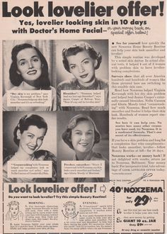 The Noxema Beauty Routine 1952