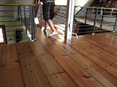 DIY wide plank hardwood floors.  Lumber yard planks, end up 1.25/ft-finished.  Can't beat that and they are beautiful!