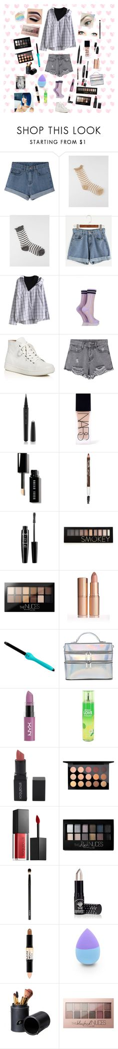 """On set day 1"" by taxitrucetown ❤ liked on Polyvore featuring Full Tilt, Sibling, Eileen Fisher, Marc Jacobs, NARS Cosmetics, Bobbi Brown Cosmetics, Maybelline, NYX, Forever 21 and Brilliance New York"