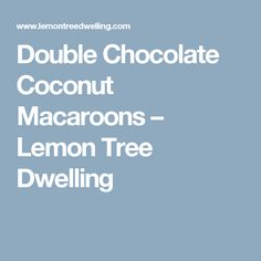 Double Chocolate Coconut Macaroons – Lemon Tree Dwelling