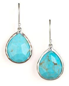 Turquoise+Teardrop+Earrings,+Small+by+Ippolita+at+Bergdorf+Goodman.