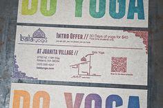 Bala Yoga Flyer designed and printed at Pike Street Press