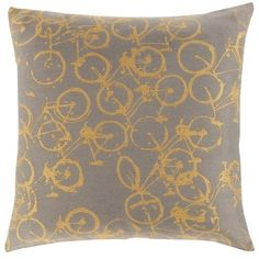 Surya PDP-002 Square Indoor Decorative Pillow with Down or Polyester Filling from the Decorative Pillows Collection (