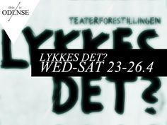 """""""Lykkes det?"""" Vidensteater på 10 dage. #DetSkråTeater #teaterkoncept #OdenseHavn #velfærdsteknologi #lykkesdet2014 #odense #mitodense #thisisodense Læs anbefalingen på: www.thisisodense.dk/10149/lykkes-det"""