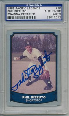 PHIL-RIZZUTO-SIGNED-AUTOGRAPHED-PSA-DNA-AUTO-CARD #philrizzuto #rizzuto #signedcard #autograph