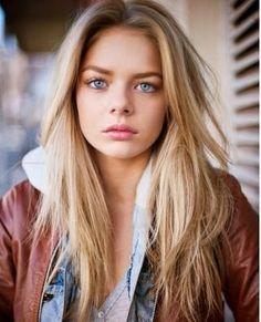 Pretty and cute hair color for blue eyes fair skin