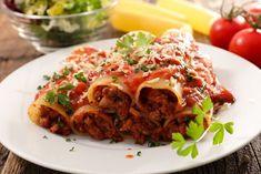 5 Ιδέες για να μαγειρέψεις σήμερα! | ediva.gr Spaghetti Bolognese, Food Decoration, Ciabatta, Pulled Pork, Oven, Meat, Ethnic Recipes, Cannelloni Recipes, Easy Trifle Recipe
