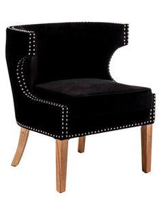 Fauteuil, rembourré  noir, marron  bois de frêne  75,5 x 70 x 80,5 cm