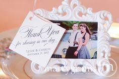 Thank You Wedding Favor Tags Script Custom with by marrygrams, $16.00