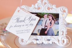 Thank You Wedding Favor Tags Script Custom with by marrygrams, $16.00