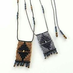 Macrame boho necklace