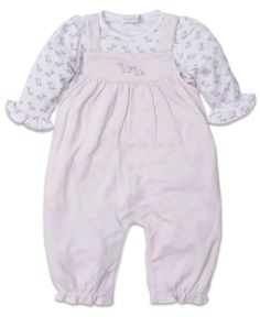 Kissy Kissy Baby Trunks Overall Set Pink/White Smocked Baby Clothes, Unisex Baby Clothes, Baby Kids Clothes, Baby Girl Fashion, Kids Fashion, Baby Trunks, Onesie Costumes, Organic Baby Clothes, Baby Girl Newborn