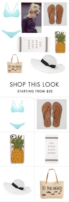 """""""Beach babe"""" by cece0723 ❤ liked on Polyvore featuring Bower, American Eagle Outfitters, Casetify, Peter Grimm and Style & Co."""