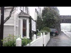 Snowing at Boulcott Street Bistro - YouTube