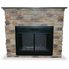 Dimplex Featherstone Electric Fireplace. love the stacked stone ...
