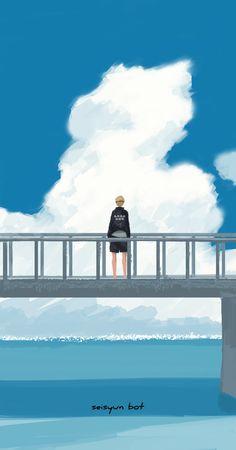 After saving you from a stalker, Volleyball player Kei Tsukishima, of… Manga Haikyuu, Haikyuu Tsukishima, Haikyuu Fanart, Kageyama, Manga Anime, Anime Art, Hinata, Naruto, Haikyuu Wallpaper