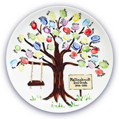Super Family Tree Painting On Canvas Fingerprints 65 Ideas School Auction Projects, Class Art Projects, Classroom Art Projects, Art Classroom, Auction Ideas, Teacher Appreciation Gifts, Teacher Gifts, Fingerprint Art, School Fundraisers