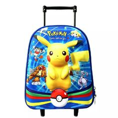 (58.28$)  Know more - http://ai80x.worlditems.win/all/product.php?id=32793348708 -  2017new 13 inch Cute Cartoon Luggage Bags 3D Extrusion ABS Luggage Children  Stairs Luggage Travel Cartoon Children's Pokemon