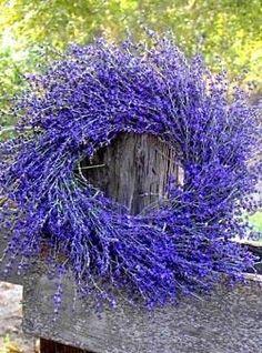 Lavander Wreath #LavenderFields