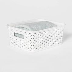 8pcs Set of Free Standing Stacking Plastic Storage Bins Boxes Kit SMALL BLACK