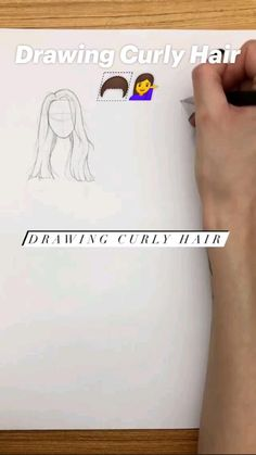 Drawing Curly Hair 🦱��♀�