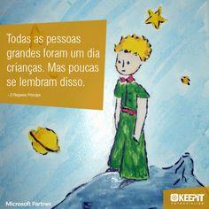 """""""Todas as pessoas grandes foram um dia crianças. Mas poucas se lembram disso."""" - O Pequeno Príncipe #quotes #frases #livros #lepetitprince #inspiration #criancas"""