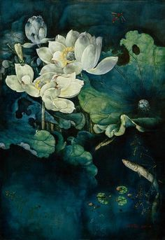 - StillLife Flower Painting for Sale Best Art Schools, Lotus Flower Pictures, Lotus Painting, Rare Flowers, Floral Wall Art, Water Lilies, Paintings For Sale, Chinese Art, Asian Art