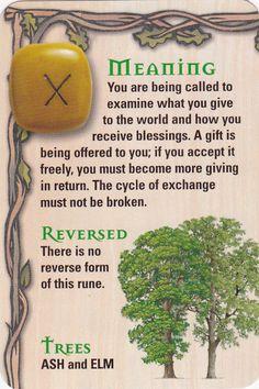 Reading the rune stones.