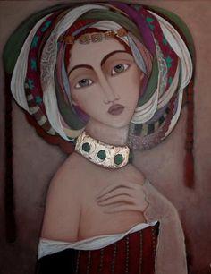 Artiste peintre autodidacte originaire d'Oran, Faiza Maghni vit et travaille à Paris depuis une dizaine d'années. Fascinée par les miniatures perses, la calligraphie arabe, mais aussi par l'art tribal et la peinture contemporaine, elle s'en inspire dans son travail et crée ainsi son propre univers. Faiza tente de traduire à travers ses portraits la beauté et la complexité de la femme symbolisés dans ses toiles par la richesse du costume et l'expression énigmatique du regard