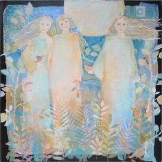 ArtOriginal Painting motherdaughter sister best by SueDavisStudio, $325.00