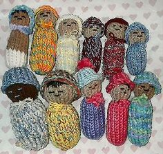 Loom Knit - Baby Dolls on flower loom - simple and sweet!