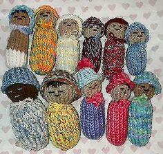 Loom Knit - Baby Dolls on flower loom - simple and sweet!