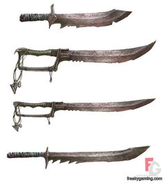 weapons skav blades from warhammer: mark of chaos