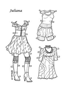 Karen`s Paper Dolls: Juliana 1-8 Paper Doll to Colour. Juliana 1-8…