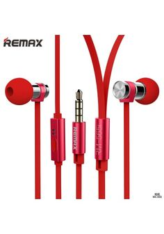 REMAX EARPHONES RM-565I Earphones red